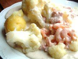 Prøv også Blomkål med reke/skinkesaus.