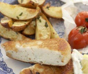 Prøv også Fiskekaker med epletzaziki og bakte tomater.