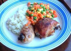 Kylling og ris oppskrift.