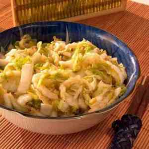 Kimchi, kålsalat oppskrift.