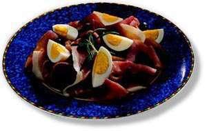 Prøv også Strandaskinke med sorte oliven og kokte egg.