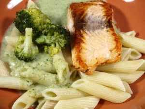 Prøv også Pasta med laks og broccoli saus.