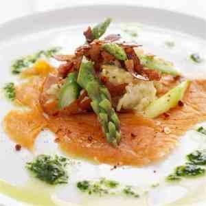 Prøv også Risotto med spekeskinke, røkelaks og asparges.
