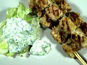 Prøv Kylling kebab.