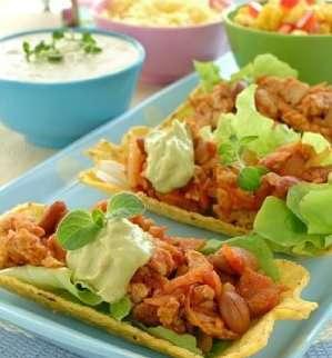 Prøv også Taco med kylling.