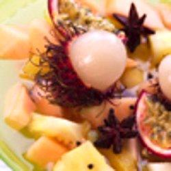 Frukter i julelake med vaniljekesam oppskrift.
