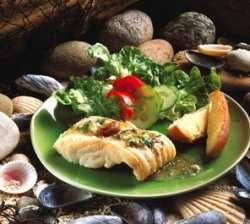 Bilde av Bacalhau assado com batatas a murro, Klippfisk med bakte poteter.