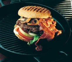 Baconburger oppskrift.