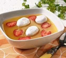 Aprikossuppe med snøegg oppskrift.