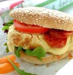 Prøv også Omelett i burgerbrød.