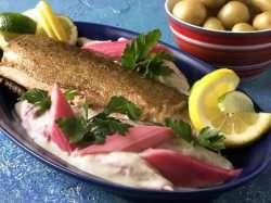 Prøv også Stekt ishavsrøye med rabarbra.