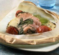 Prøv også Innbakt laks med grønnsaker.