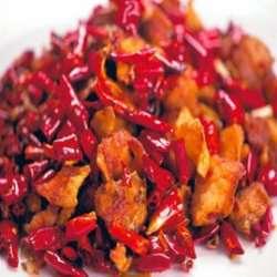 Laks med pepper, Chonqing Salmon oppskrift.