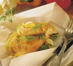 Prøv også Laksepakke med hvitløk.