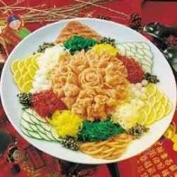 Good Luck Yu Sheng, tradisjonell kinesisk nyttårsrett oppskrift.