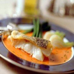 Prøv også Skrei med fennikel og paprikasaus.