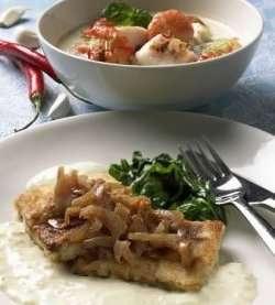 Prøv også Seibiff med spinat og ostesaus.
