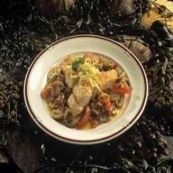Stekt sei med sjampinjong og tomat oppskrift.
