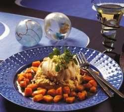 Prøv også Stekt torsk på potetbrandad.