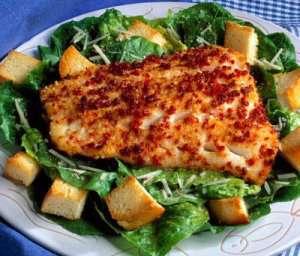Prøv også Ovnsbakt torsk med Cæsarsalat.