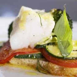Fisk og grønnsaker i form oppskrift.