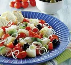 Italiensk tørrfisksalat oppskrift.