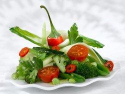 Grønn wok oppskrift.