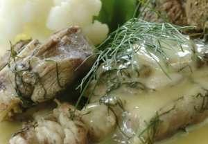 Lammekjøtt kokt med dill fra Hedmark oppskrift.