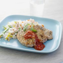 Prøv også Svin ytrefilet med grønnsaksris og salsa.