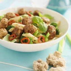 Prøv også Kjøttboller av svinekjøtt med pasta.