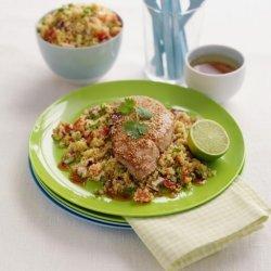 Prøv også Sesamfrøstekte skinkebiffer med couscous.
