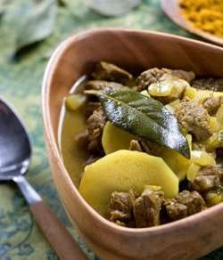 Beef Curry Soup fra Sør-Afrika oppskrift.