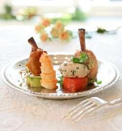 Prøv også Kyllingvinger med sjøkreps, avokado og spiresalat.