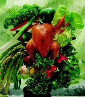 Bilde av Grillet kylling med lun salat.