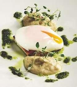 Posjert egg med jordskokkrem oppskrift.