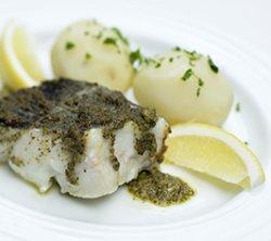 Prøv også Bakt torsk med basilikum, hvitløk og kapers.