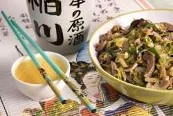 Bilde av Sukiyaki, nasjonalretten til Japan.