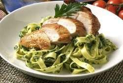 Prøv også Grillet kylling med spinatpasta.