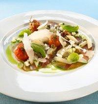 Prøv også Birkebeiner skinke med bakt tomat, parmesan og hvit asparges.