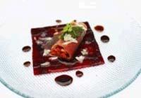 Prøv også Spekeskinke med tomatvinaigrette, pesto og balsamicosirup.