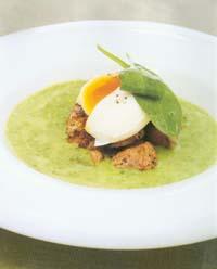Prøv også Spinatsuppe med svin og pochert egg.