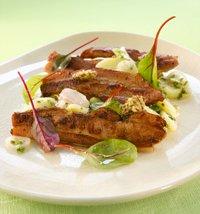 Prøv også Stekt bacon med fransk potetsalat og vårløk.