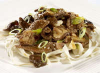 Prøv også Teryaki wok med nudler, shitakesopp og sesamfrø.