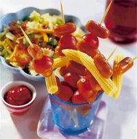 Prøv også Barnslig spyd med pastasalat.