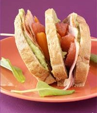 Prøv også Club Sandwich med gulrotbrød.