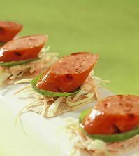 Prøv også Flatbrød med grillede pølser og coleslaw.