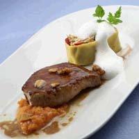 Prøv også Pannestekt ytrefilet med grov gresskarpurè, vegetarisk rotollo og nøttesaus.