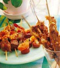 Prøv også Skinkebiff på spyd med chili og sesamfrø.