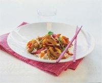 Sursøt wok med Edelgris strimler oppskrift.