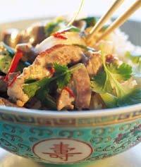 Thailandsk wok oppskrift.